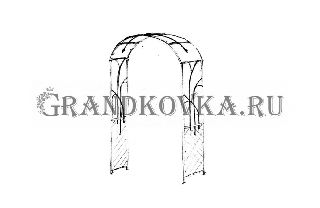 Эскиз кованой арки ЭКАРК-355