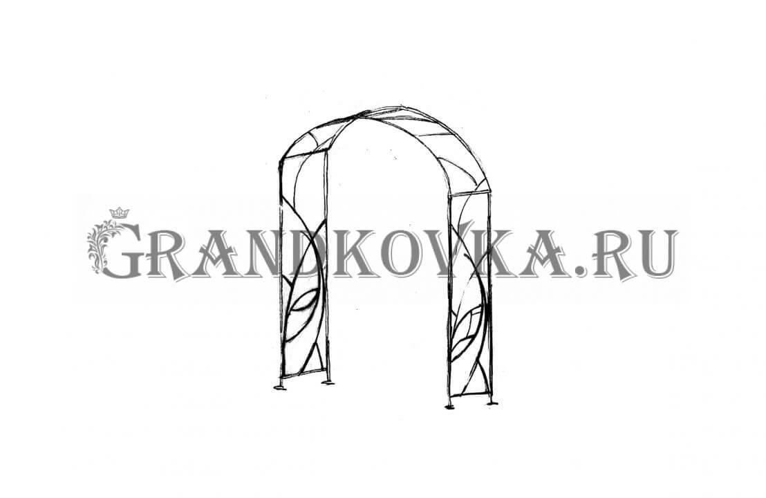 Эскиз кованой арки ЭКАРК-357