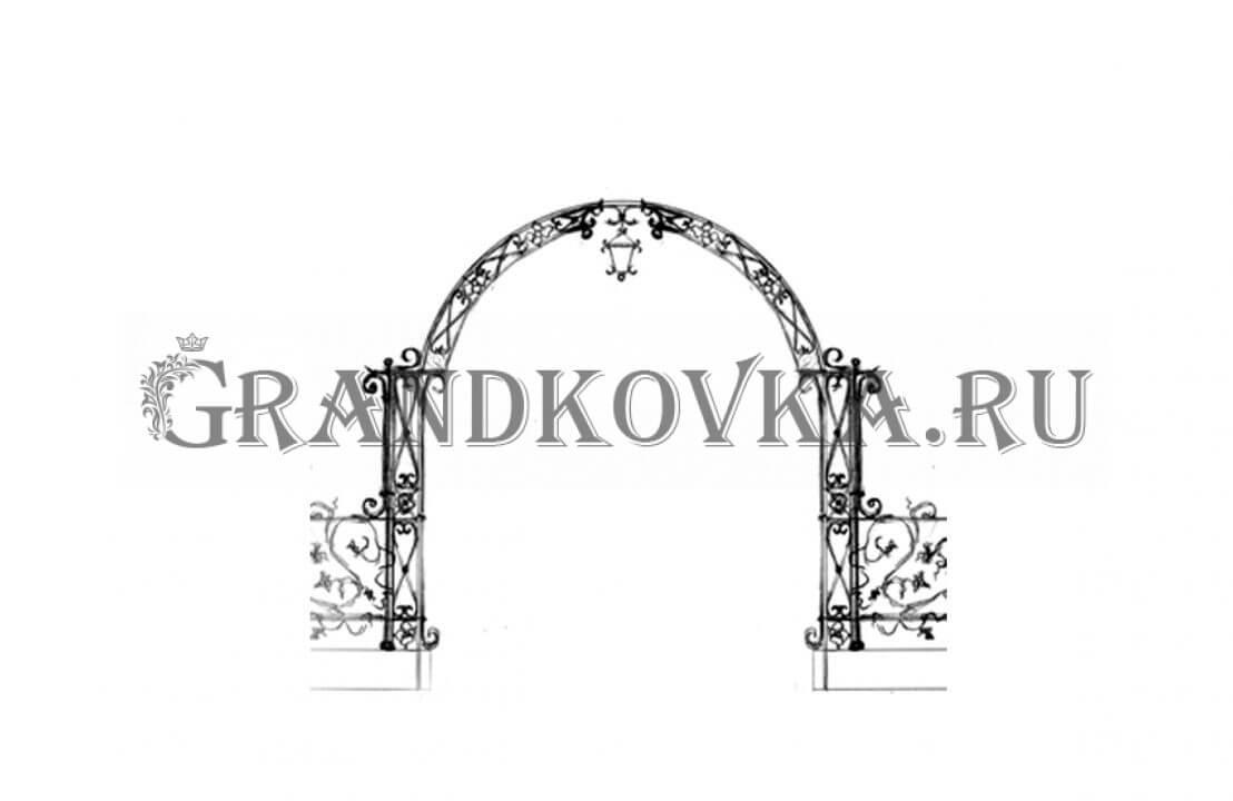 Эскиз кованой арки ЭКАРК-361