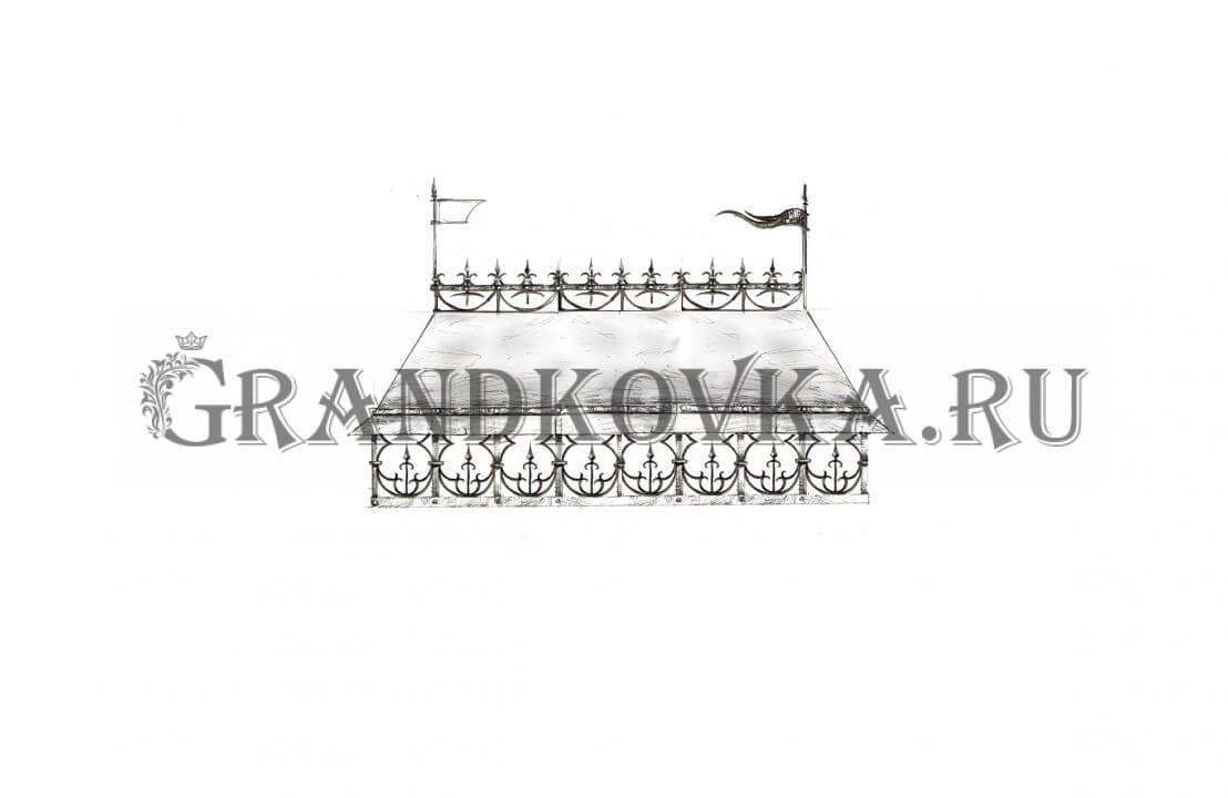 Эскиз кованого дымника ЭКДЫМ-232