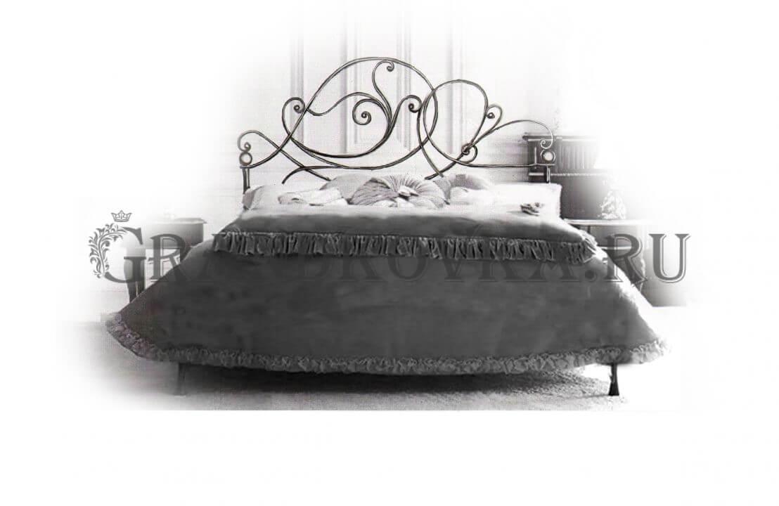 Эскиз кованой кровати ЭККРОВ-125