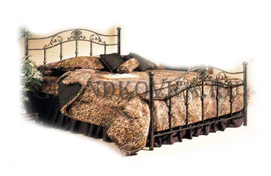 Эскиз кованой кровати ЭККРОВ-139