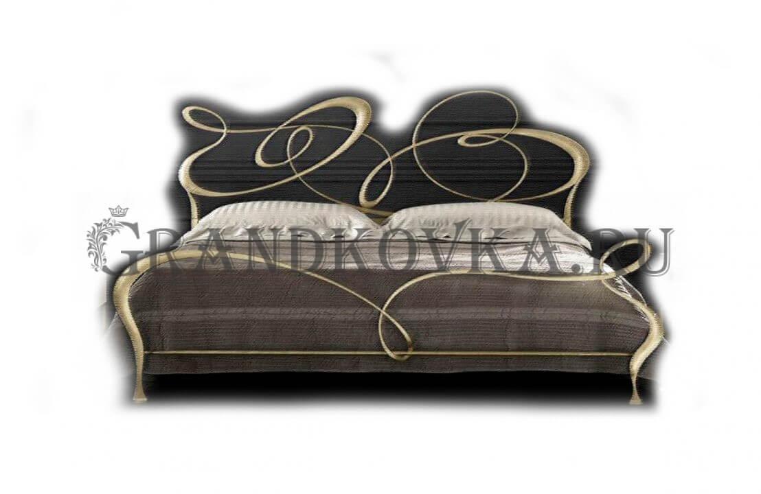 Эскиз кованой кровати ЭККРОВ-143