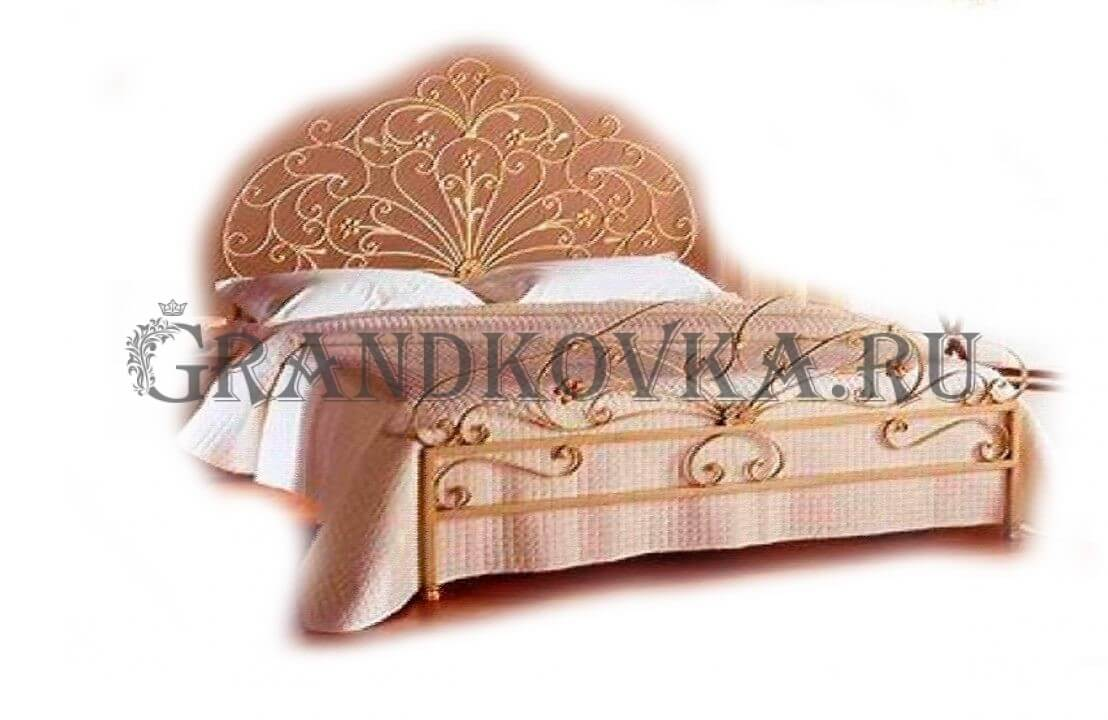 Эскиз кованой кровати ЭККРОВ-144