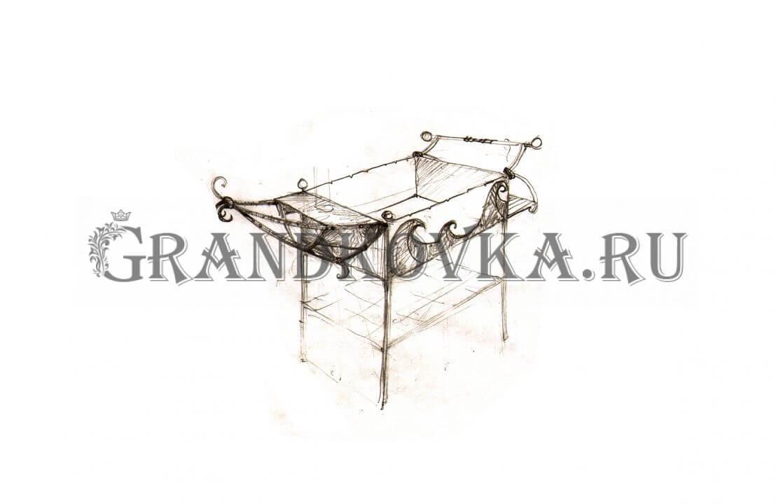Эскиз кованого мангала ЭКМАНГ-220