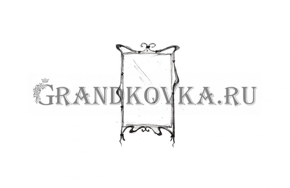 Эскиз кованого зеркала ЭКЗЕР-159