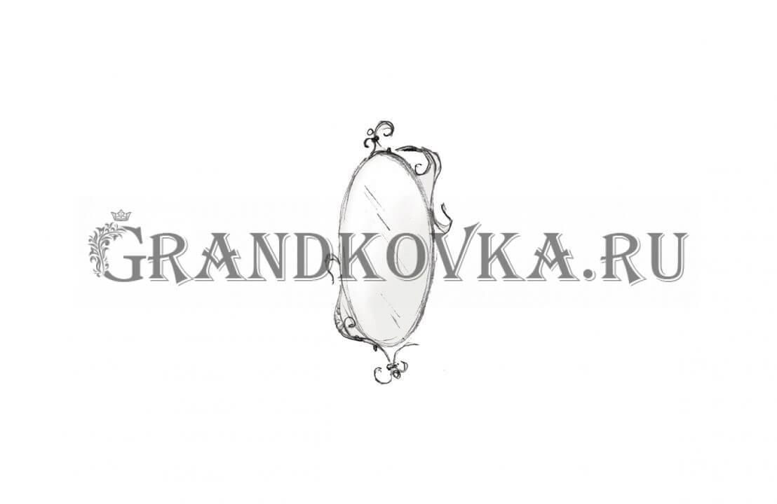 Эскиз кованого зеркала ЭКЗЕР-161