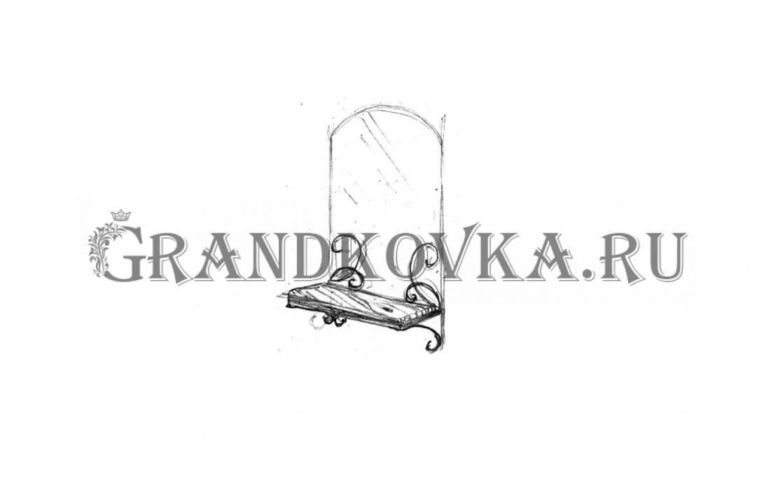 Эскиз кованого зеркала ЭКЗЕР-162