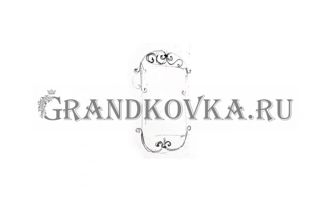Эскиз кованого зеркала ЭКЗЕР-164
