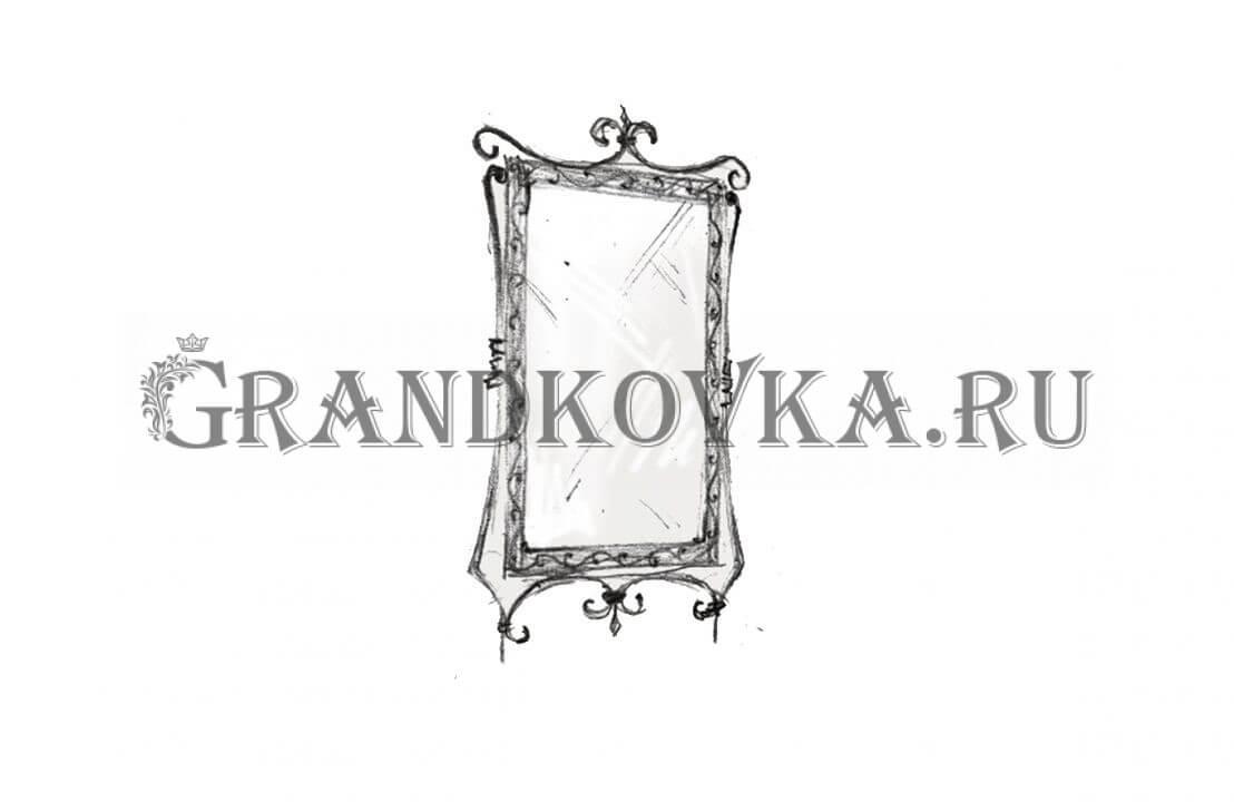 Эскиз кованого зеркала ЭКЗЕР-165