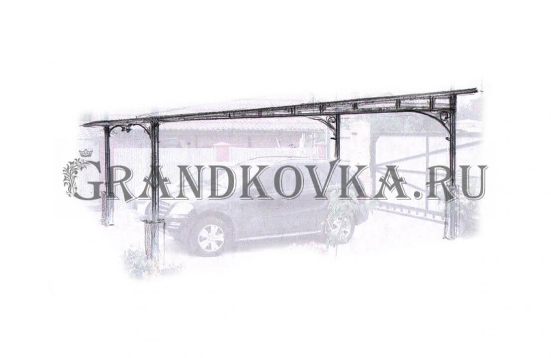 Эскиз навеса для машины ЭКНАВЕС-399