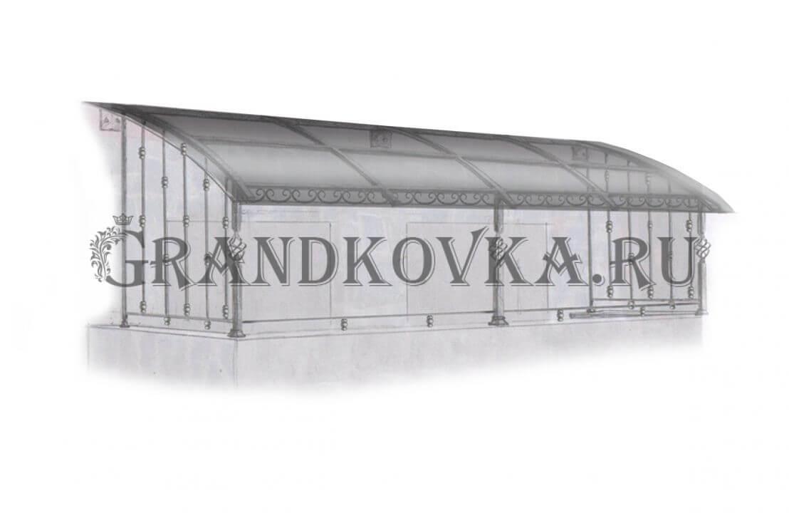 Эскиз навеса над крыльцом ЭКНАВЕС-402
