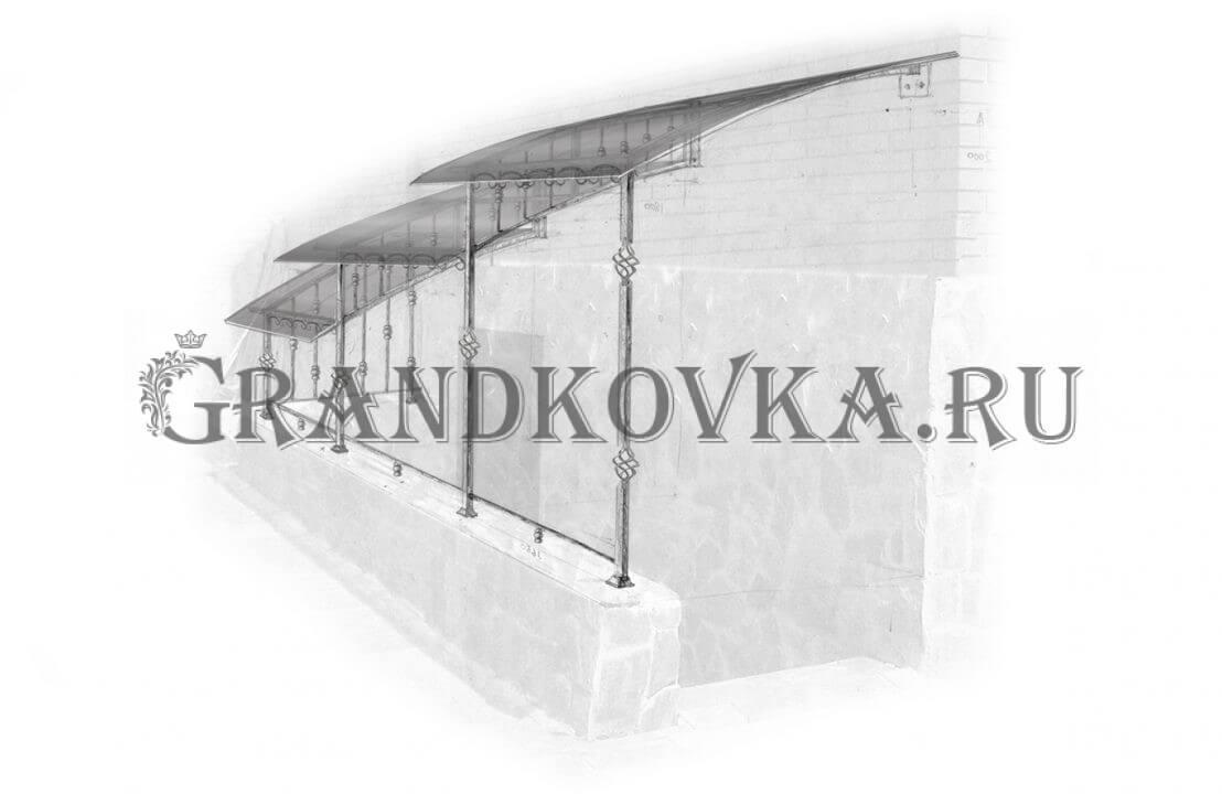 Эскиз навеса над крыльцом ЭКНАВЕС-403
