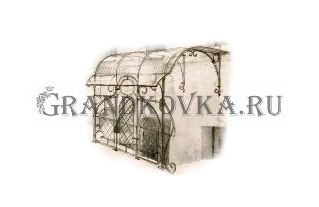 Эскиз навеса над крыльцом ЭКНАВЕС-405
