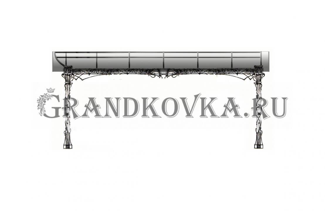 Эскиз теневого навеса ЭКНАВЕС-448