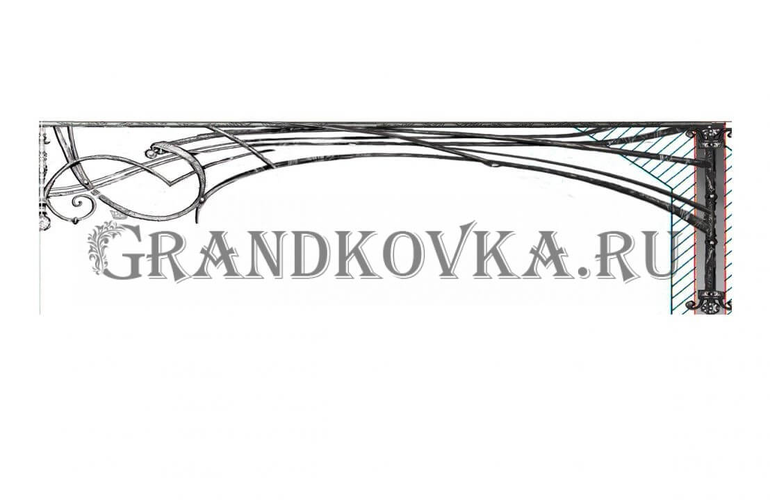 Эскиз теневого навеса ЭКНАВЕС-449