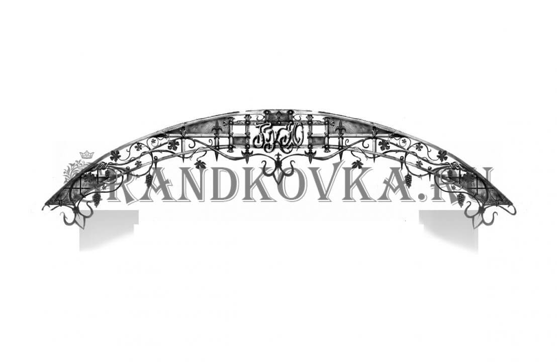 Эскиз теневого навеса ЭКНАВЕС-450