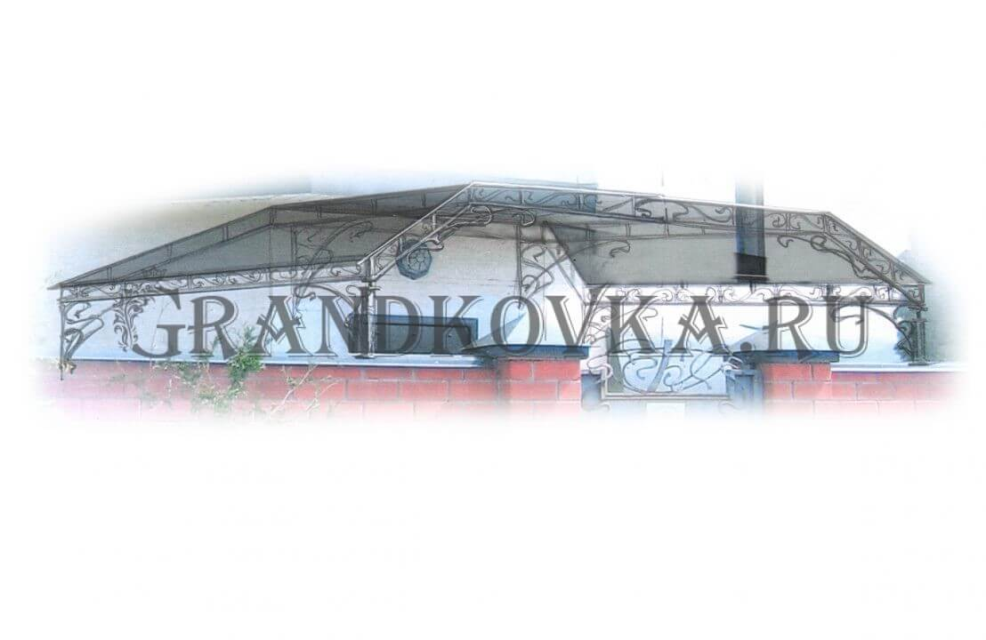 Эскиз теневого навеса ЭКНАВЕС-452