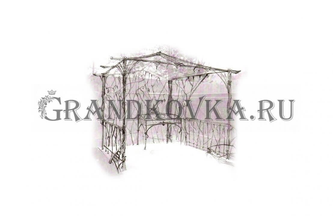 Эскиз навеса для мангала ЭКНАВЕС-462
