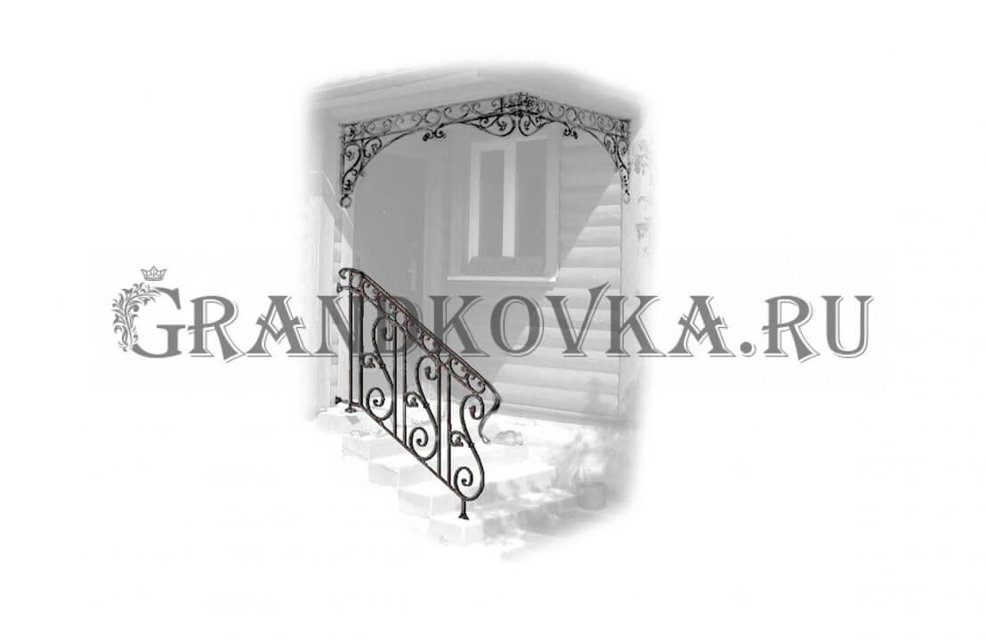 Эскиз навеса над крыльцом ЭКНАВЕС-476