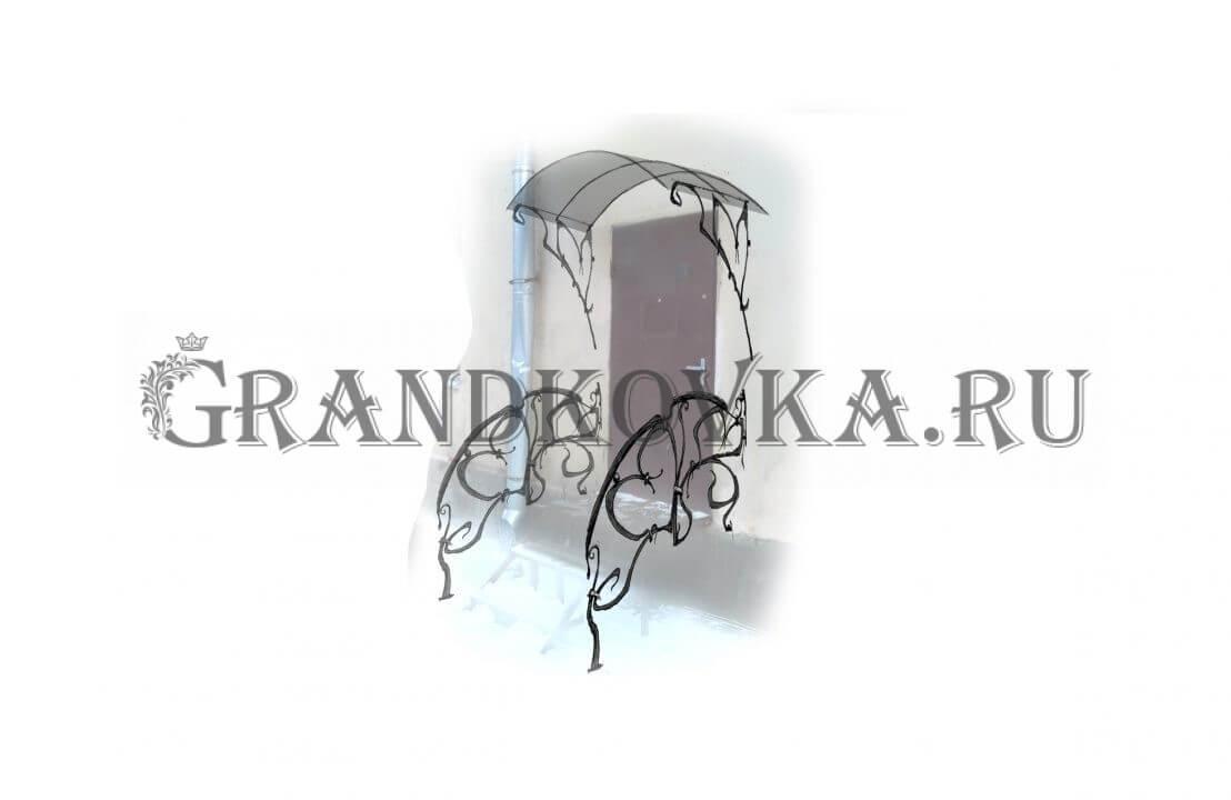 Эскиз навеса над дверью ЭКНАВЕС-479