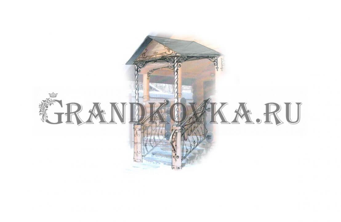 Эскиз навеса над крыльцом ЭКНАВЕС-490