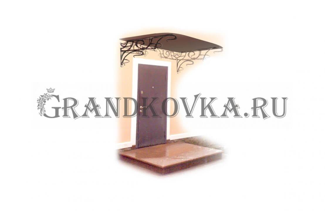 Эскиз навеса над дверью ЭКНАВЕС-504
