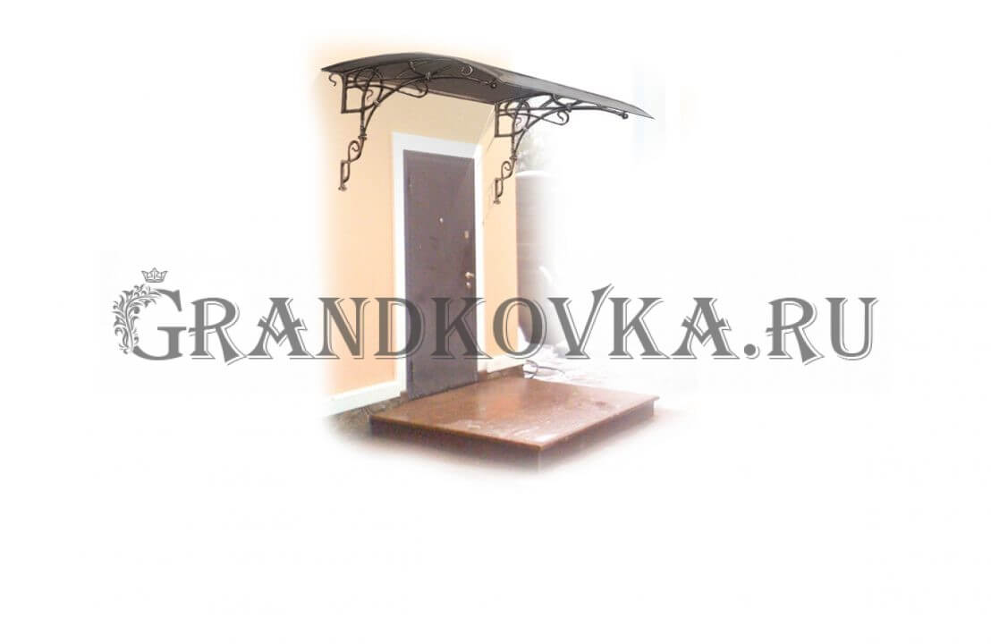 Эскиз навеса над дверью ЭКНАВЕС-505