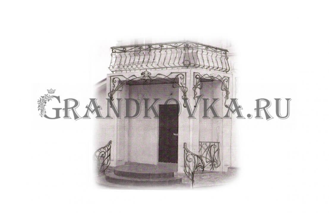 Эскиз навеса над дверью ЭКНАВЕС-509
