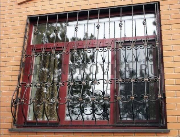 Кованая решетка на окно КРЕШ-11