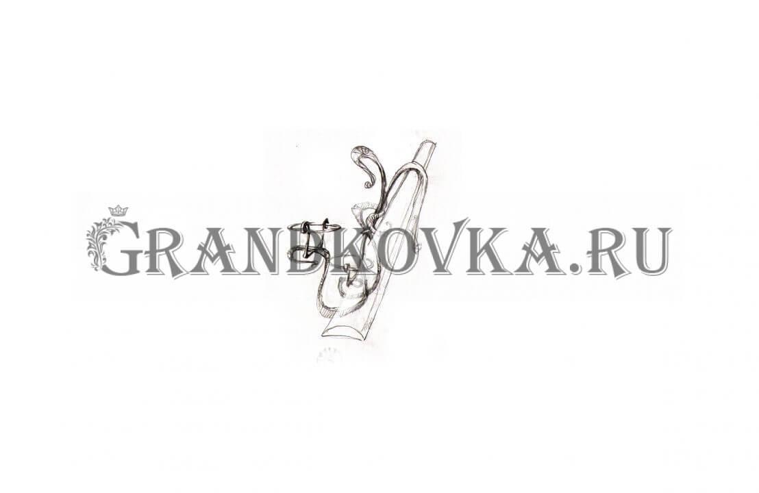 Эскиз кованой цветочницы ЭКЦВЕТ-193