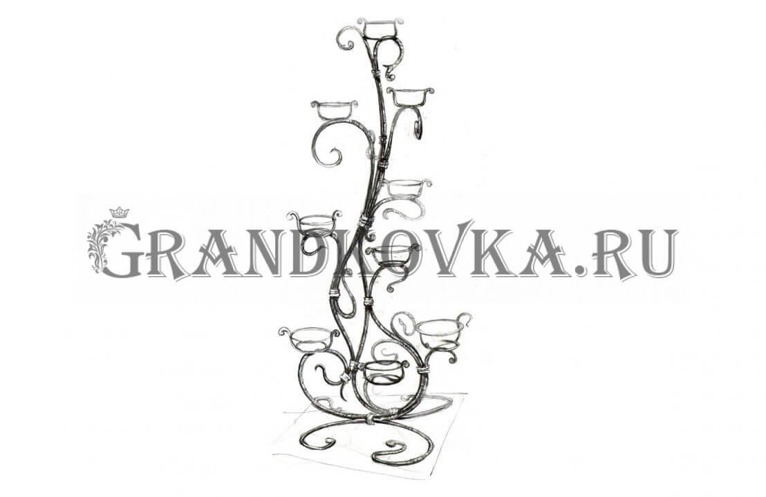 Эскиз кованой цветочницы ЭКЦВЕТ-196