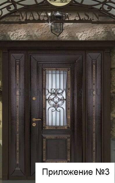 Эскиз кованой решетки на дверь 1