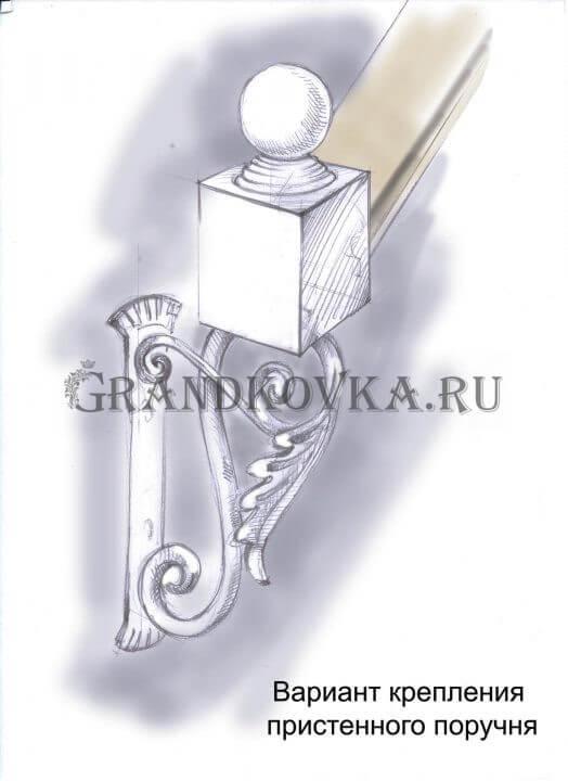 Эскиз кованых перил для лестницы 36