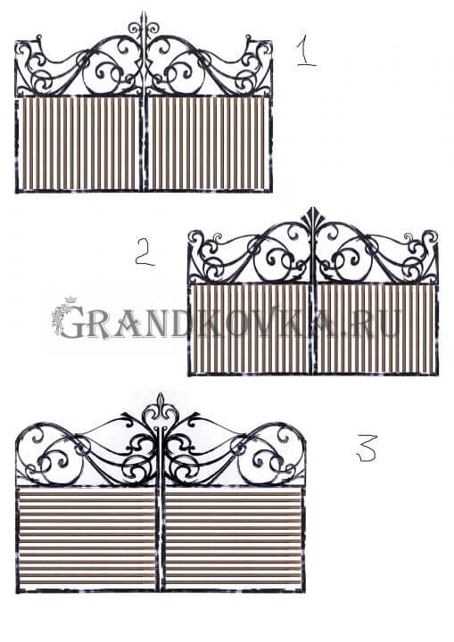 Эскиз распашных кованых ворот 1