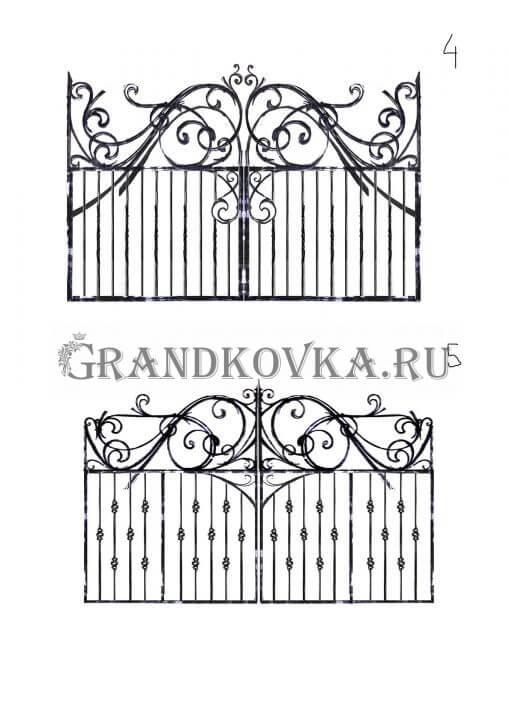 Эскиз распашных кованых ворот 2