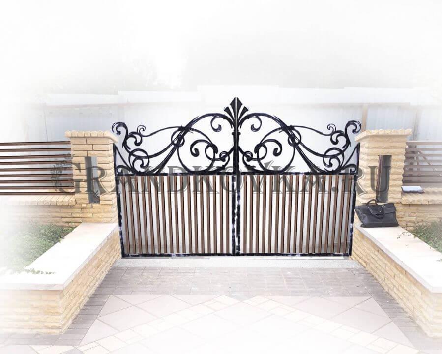 Эскиз распашных кованых ворот 4