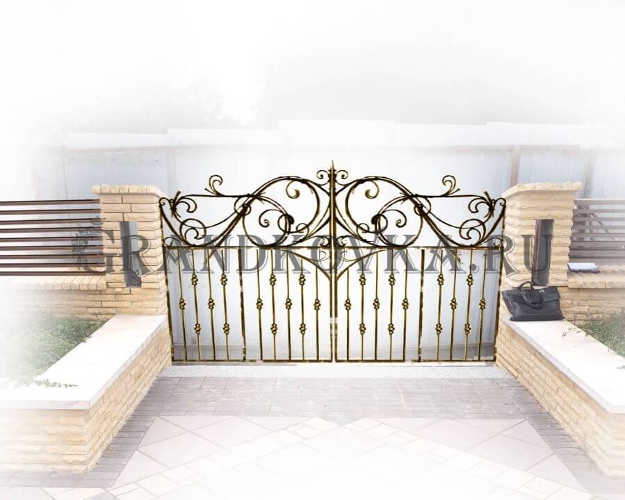 Эскиз распашных кованых ворот 6
