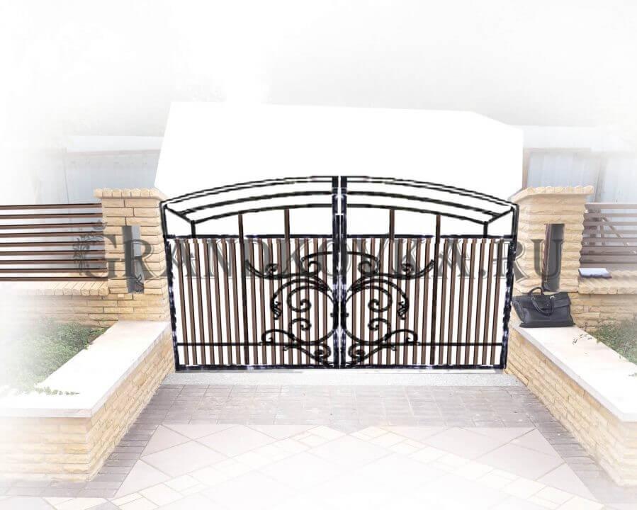 Эскиз распашных кованых ворот 8