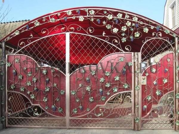 Фото кованых распашных ворот 156