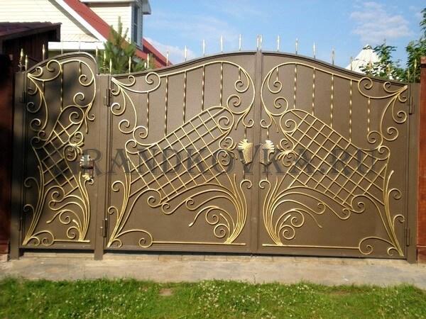 Фото кованых распашных ворот 172