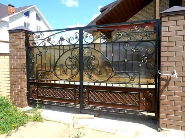 Фото кованых распашных ворот 187
