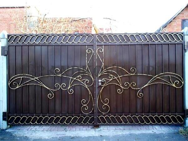 Фото кованых распашных ворот 188