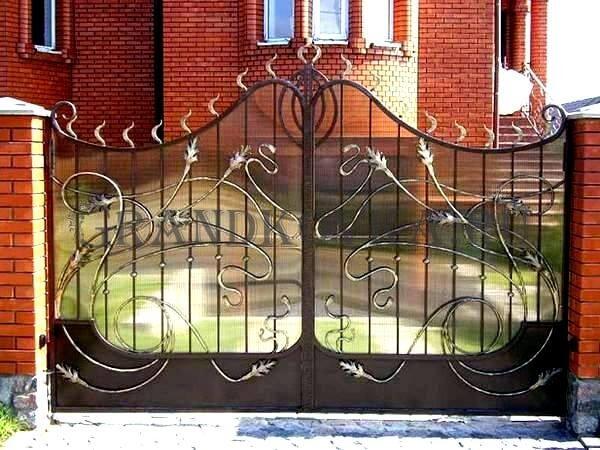 Фото кованых распашных ворот 48