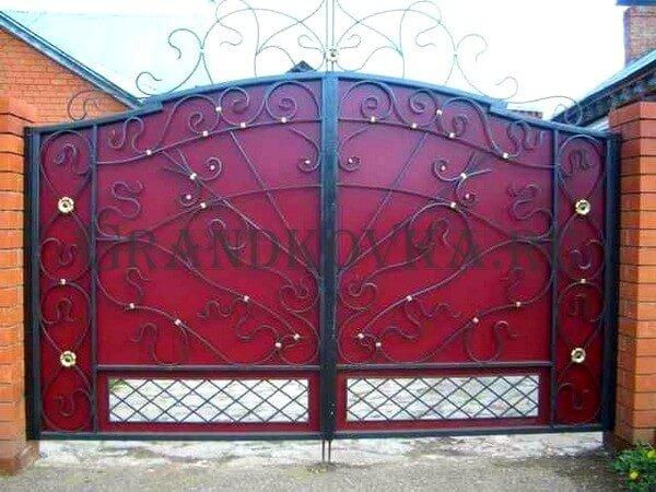 Фото кованых распашных ворот 89