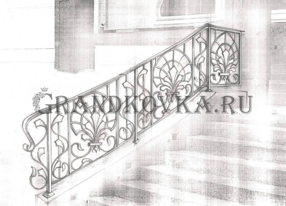 Эскиз ограждения лестницы 5