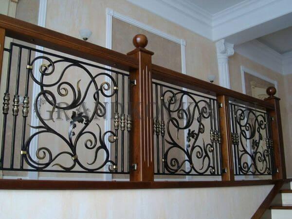 Фото ограждения для лестницы 4