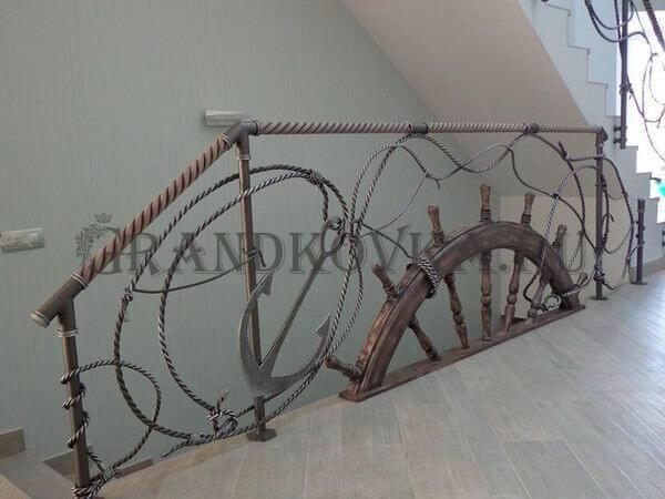 Фото ограждения для лестницы 9