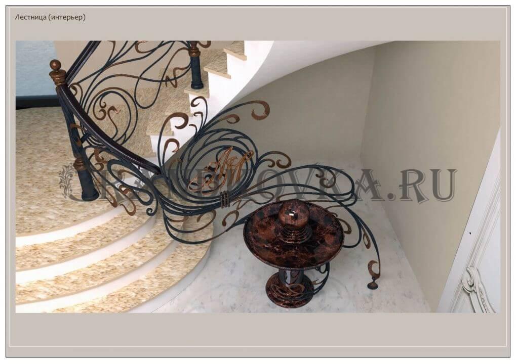 3Д модель лестницы на второй этаж дома ЭКЛВ-4