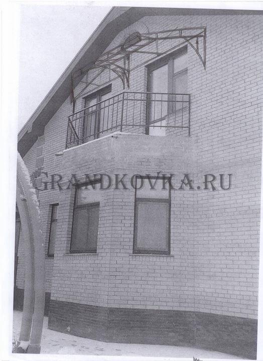 Эскиз козырька над балконом ЭКБ-1